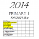 Primary 1 2014 English, Maths, Chi..