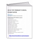 2016 Single Subject Paper Primary 2