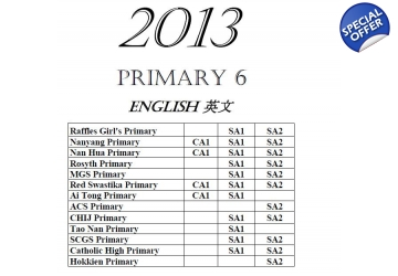 Primary 6 2013 English, Maths, Science, Chinese