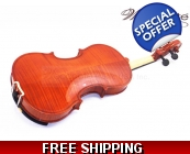 Woodnote VB-290 Flamed Violin with Free Extra St..