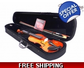 Woodnote VB-280 Violin Fiddle-Bow/Rosin/Case/Str..