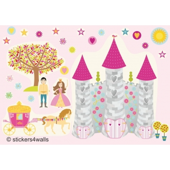 Princess FabriStick® Repositionable, Removable Fabric Wall Stickers
