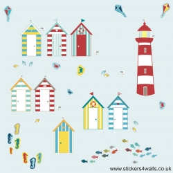 SEASIDE BEACH HUT WALL ..