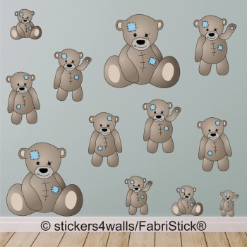 Bears FabriStick® Repositionable, Removable Fabric Wall Stickers