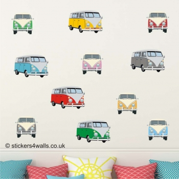CAMPERVAN WALL STICKERS: Repositionable, Removab..