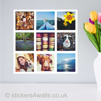 Instagram photo collage printed wall stickers: a..