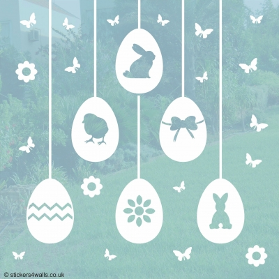 Easter Egg Window Stickers