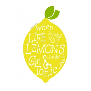 When life hands you lemons decal Vinyl Wall Sticker
