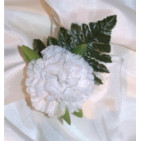 5 x WHITE CARNATION BUTTON HOLE