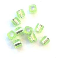 Pkt of 10 FLORESANT LIME GREEN SQ..