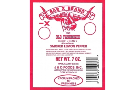 7 OZ Smoked Lemon Pepper Old Fashioned Beef Jerky