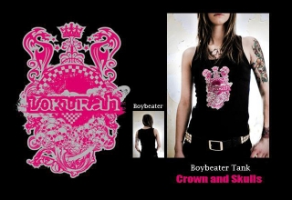 """SOLD OUT"" BOYBEATER TANK CROWN AND SKULLS"