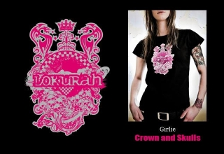 GIRLIE CROWN AND SKULLS