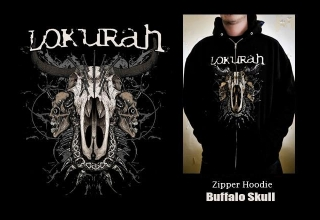 SOLD OUT / ZIPPER HOODIE BUFFALO SKULL