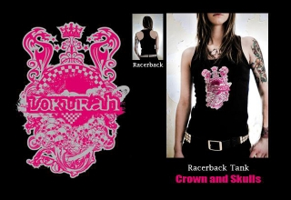 """SOLD OUT"" RACERBACK TANK CROWN AND SKULLS"