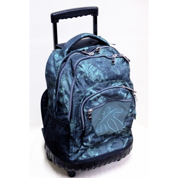 Totto Backpack on Wheels - Grey Grafitti with Solid Base