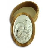 Rosary Box with Sterling Silver Relief..