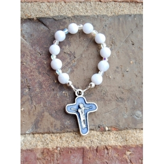 Blue Lace Agate Rosary Ring