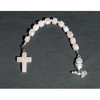 Rose Quartz Crystal Pocket Rosary