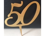 No 50 Acrylic Cake Topper