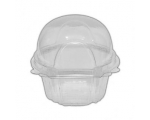 10 Clear Cupcake Dome Pods/CUPCAKE CASES
