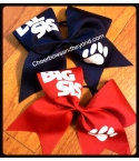 Solid Paw Print Big Sis/Lil Sis Cheer..