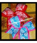 2 Layer Lace Cheer Bow ..