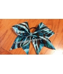 Blue Zebra Hair Bow
