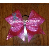 Holographic Neon Pink Breast Cancer Ch..