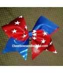 Tick Tock Star Cheer Bow