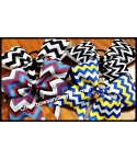 American Chevron Hair Bow
