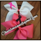 Breast Cancer Cheer Bows & Key Chain O..