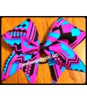 Neon Aztec Cheer Bow *O..