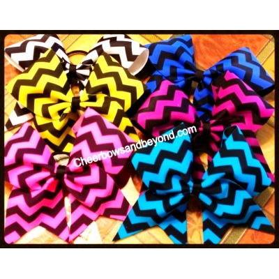 Chevron Cheer Bows..