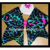 Holographic Neon Pink & Teal Cheetah L..