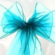 Turquoise Organza Chair Sashes 3m ..