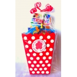 Unisex Red Polka Dot Party Treat Boxes
