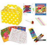 Yellow Polka Dot Party Box