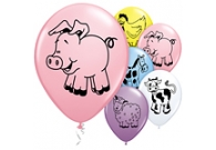Farm Animals Party Latex Balloons 6 pk