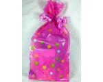 Pink Spotted Girls Party Bags