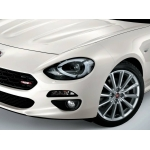 Fiat 124 Spider Red Grille Badge