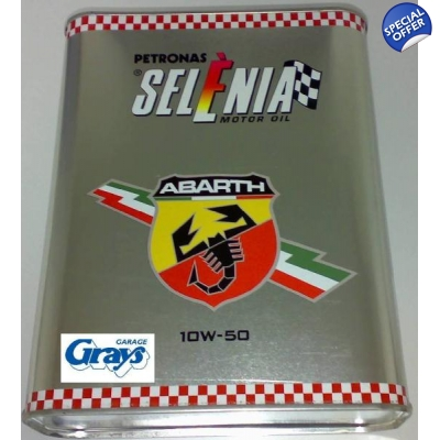 ABARTH Engine Oil 10W-50 2 Litre | Petronas Selenia Motor Oil | Abarth Oil | Selenia Oil