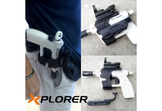 Xpistol rails and holster