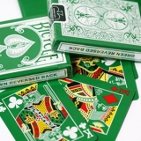 Reversed Back Bicycle Deck - Green Bic..