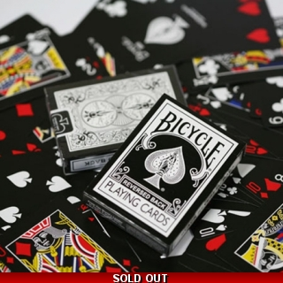 Reversed Back Bicycle Deck - Black Bla..