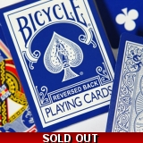 Reversed Back Bicycle Deck - Blue Blue..