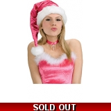 Pink Sequin Santa Hat
