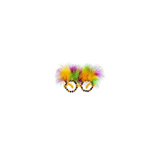 Feather and Gems Mardi Gras Glasses
