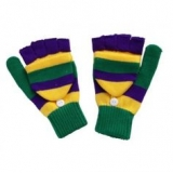 Fingerless Mardi Gras Gloves