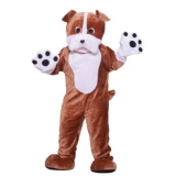 Deluxe Plush Bull Dog Mascot Costume